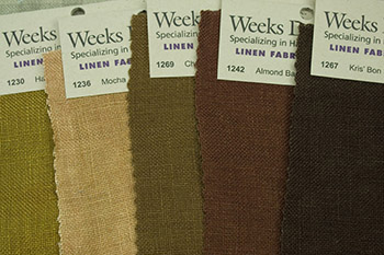Weeks Dye Works Linen Fabric Hand Dyed
