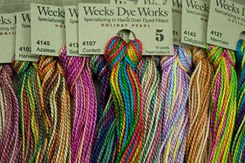 WEEKS DYE WORKS \u201cChestnut 1269\u201d hand over-dyed embroidery floss