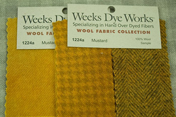 Weeks Dye Works Wool Fabric Hand Dyed