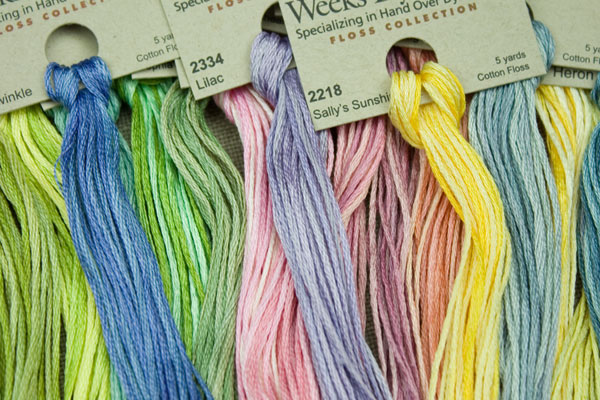 WEEKS DYE WORKS \u201cHolly 1279\u201d hand over-dyed embroidery floss