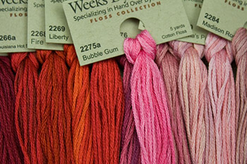 Weeks Dye Works | hand over-dyed fibers | embroidery floss