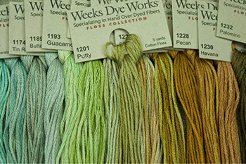 Weeks Dye Works Embroidery Floss 6 Strand 2 Strand